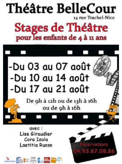Stage de Théâtre pour Enfant de 4 à 11 ans