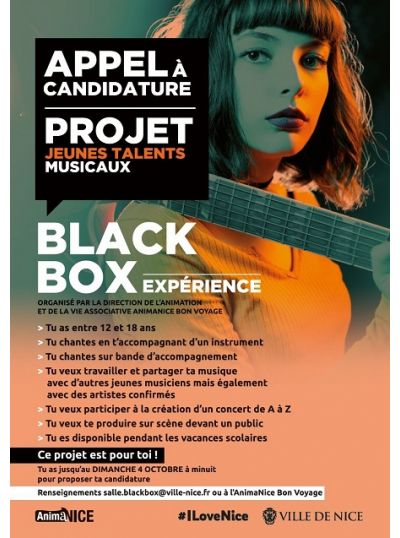 Candidature projet Jeunes - Black Box Experience