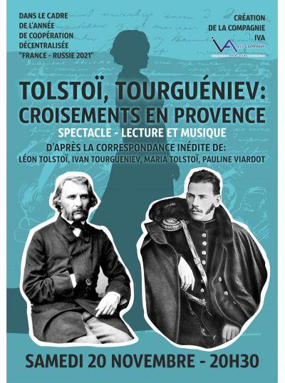 Tolstoï, Tourgueniev, Sand : croisements en Provence